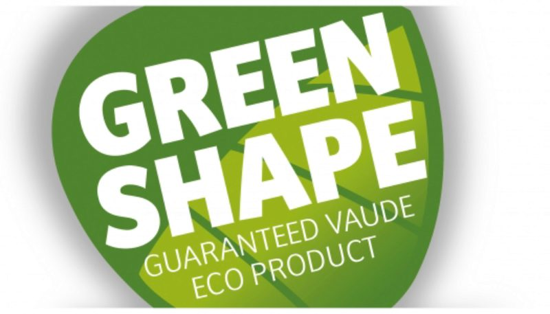 The Vaude Green Shape Label